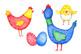 Watercolor Bright Chicks Clip Art