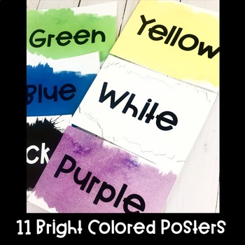 Watercolor Bright Color Posters