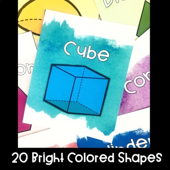 Watercolor Bright Shapes Posters
