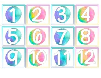 Watercolor Bright Two-Tone Themed Calendar