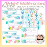 Watercolor Bright Two-Tone Themed Calendar