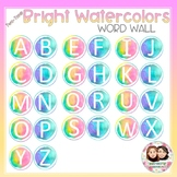 Watercolor Bright Two-Tone Word Wall Letters