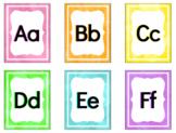 Watercolor Brights Alphabet