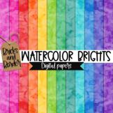 Watercolor Brights Digital Paper Clip Art