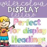 Watercolor Bulletin Board Letters