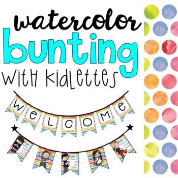Watercolor Bunting