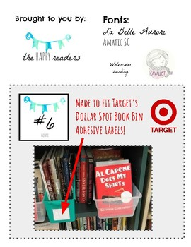 Watercolor Bunting Book Bin Labels (to fit Target adhesive labels)