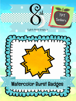 Watercolor Burst Badges