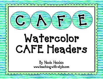Watercolor CAFE Headers {CAFE FREEBIE}