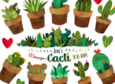 Watercolor Cacti Clipart