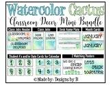 Watercolor Cactus Classroom Decor