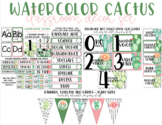 Watercolor Cactus | Classroom Decor Set