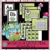 Watercolor Cactus Classroom Decor Set Two