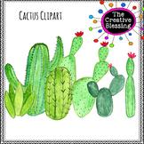 Watercolor Cactus Clip Art