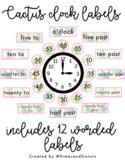 Watercolor Cactus Clock Labels