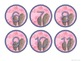 Watercolor Cactus Decor Round Numbers
