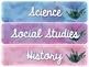 Watercolor Cactus Decor Subject Labels