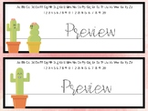 Watercolor Cactus Desk Name Tags-*Editable*