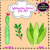FREE Watercolor Cactus Clip Art