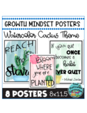 Watercolor Cactus Growth Mindset Posters