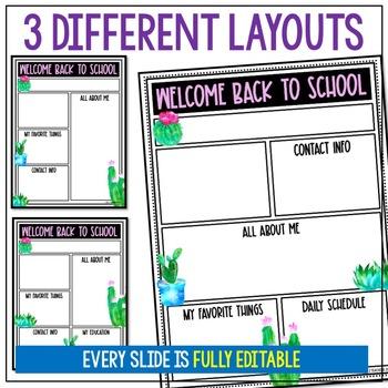Watercolor Cactus Meet the Teacher Newsletter EDITABLE