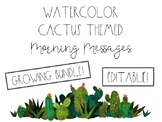 Watercolor Cactus Morning Messages