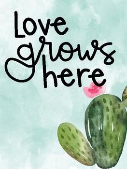 Watercolor Cactus Posters