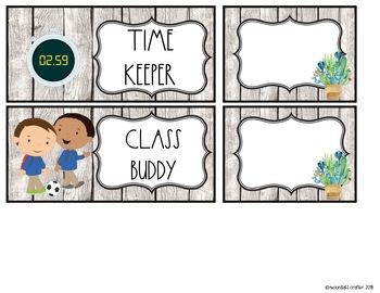 Watercolor Cactus Themed Classroom Job Chart