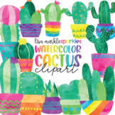 Watercolor Cactus and Succulent Clipart