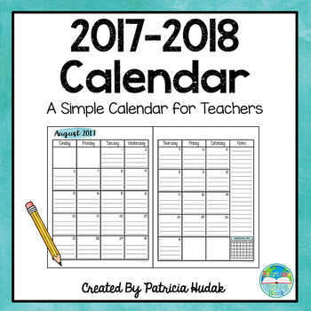 Watercolor Calendar: 2017-2018