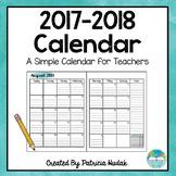 Watercolor Calendar: 2017-2018