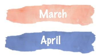 Watercolor Calendar