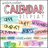 Watercolor Calendar Display