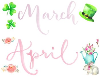 Watercolor Monthly Calendar Cards