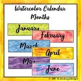Watercolor Calendar Months