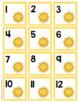 Watercolor Calendar Numbers - Summer Themed