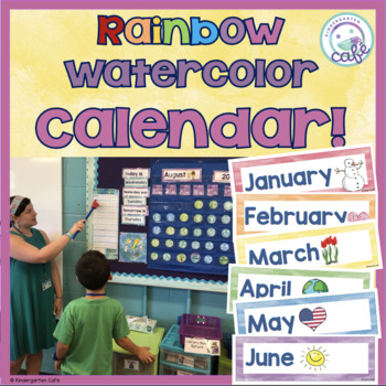 Watercolor Calendar: Rainbow Theme!