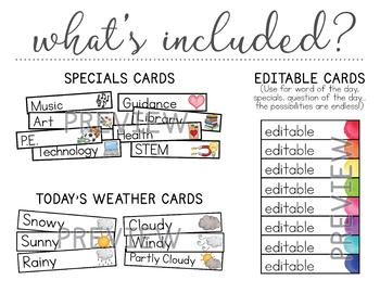 Watercolor Calendar Set | Calendar Kit