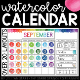 Watercolor Calendar Set | Calendar Kit