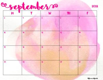 Watercolor Calendars