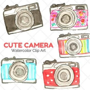 Watercolor Camera Clipart By Writelovely Teachers Pay Teachers