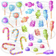Watercolor Candy Clipart