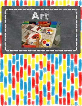 Watercolor Center Signs with Space for Velcro Student Tags
