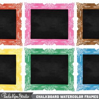 Borders - Watercolor Chalkboard