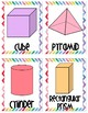 Watercolor Chevron 2D and 3D shape cards