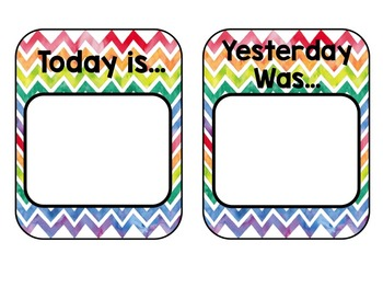 Watercolor Chevron Calendar Set and Daily Schedule Cards