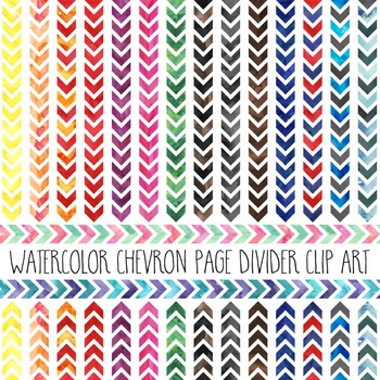 Watercolor Chevron Page Dividers
