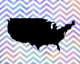 United States Map Poster, USA, America, Government, Class Decor