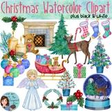 Watercolor Christmas Clip Art