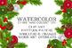 Watercolor Christmas Clip Art Holiday Digital Set